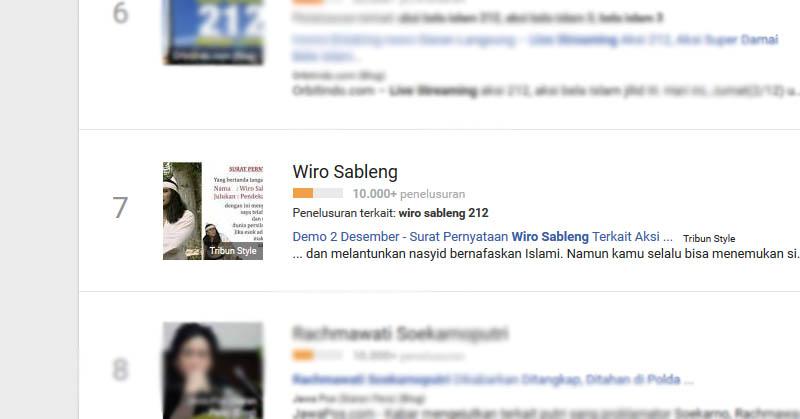Selain di Twitter, Wiro Sableng Juga Populer di Google