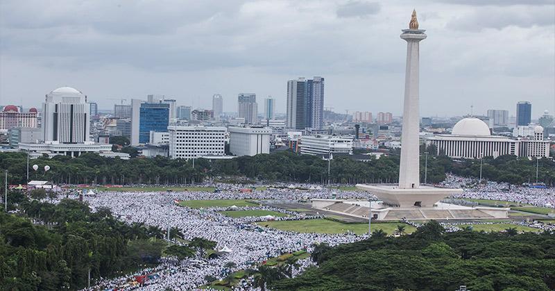Massa Aksi Damai 212. (Foto: Antara)