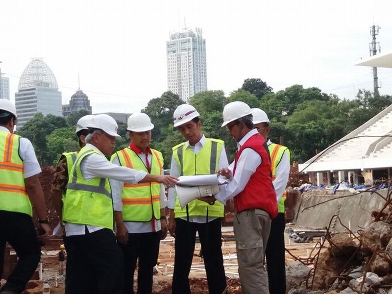 Presiden Jokowi pantau venue Sea Games di GBK, Senayan (Foto: Okezone)