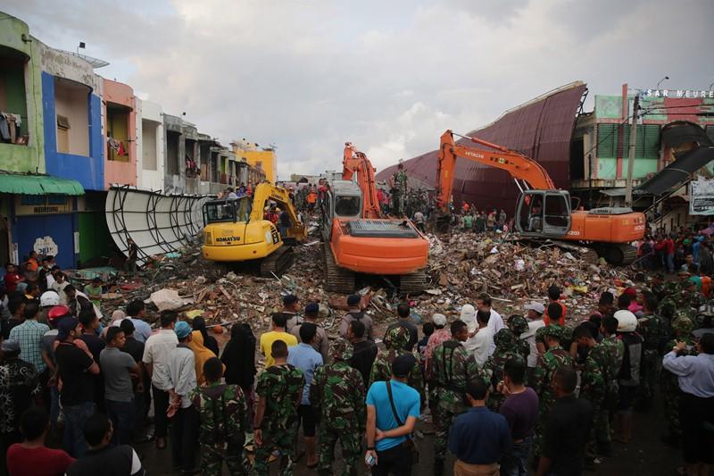 Percepat pembangunan pascagempa Aceh (Foto: Hadiz Mubarak/Antara)