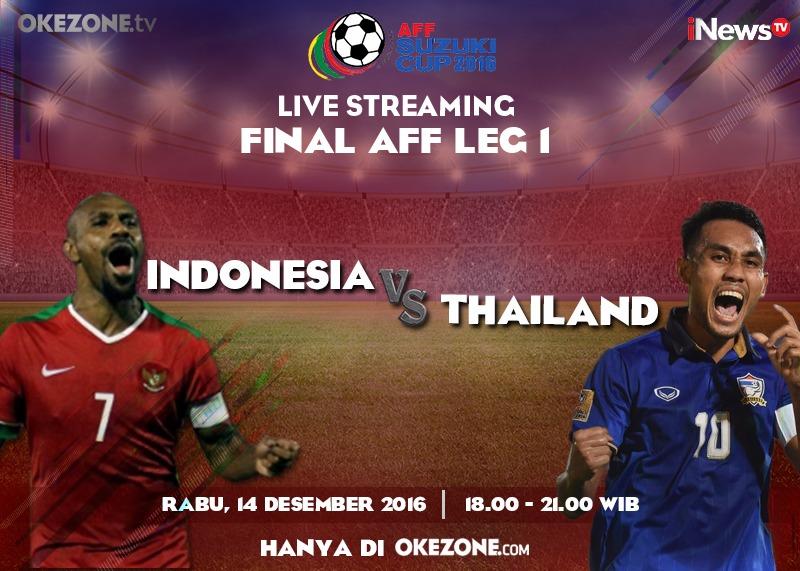 Okezone.com Siarkan Live Streaming Leg I Final Piala AFF