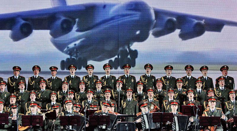 Kelompok Paduan Suara Militer Rusia, Alexandrov Ensemble. (Foto: Sputnik)