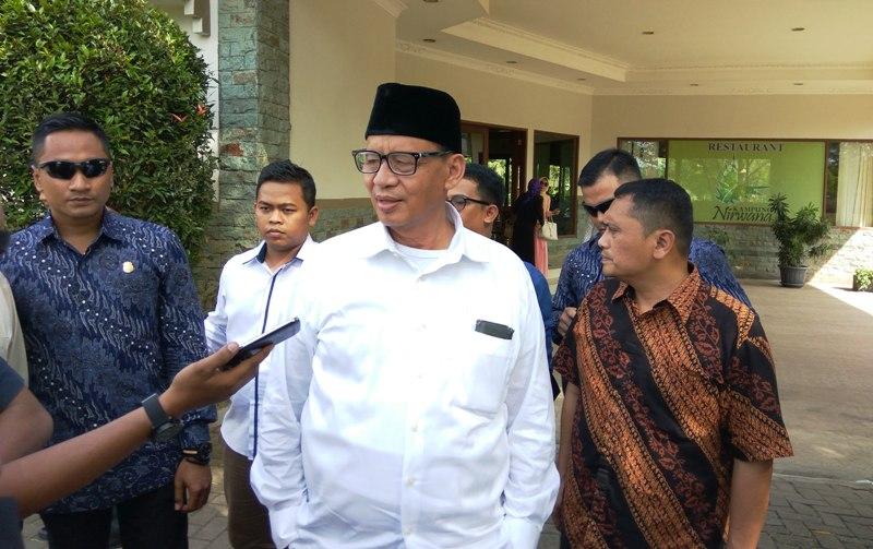 Cagub Banten, Wahidin Halim (Foto: Hambali/Okezone)