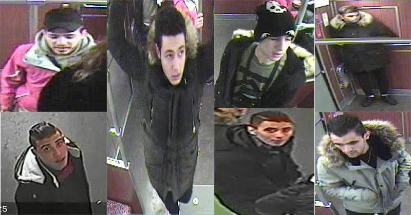Inilah tujuh pemuda yang menjadi tersangka utama pembakaran tunawisma di stasiun kereta bawah tanah Berlin (Foto: Berlin.de/Kepolisian Berlin)