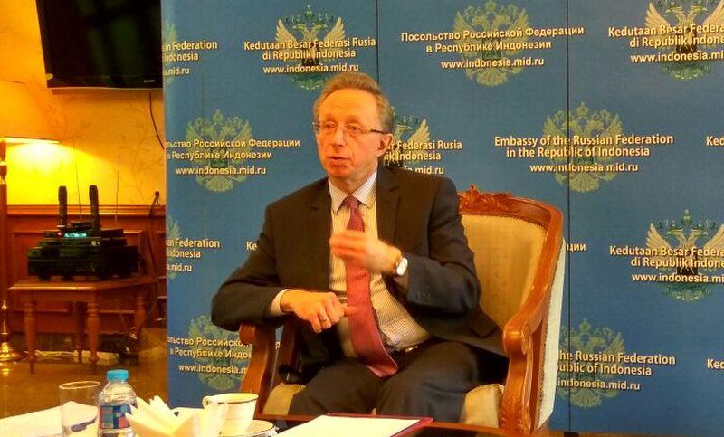 Dubes Rusia untuk Indonesia Mikhail Galuzin. (Foto: Silviana D/Okezone)