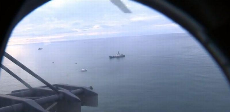 Operasi Pencarian Korban Pesawat Jatuh di Laut Hitam. (Foto: Russian Today)