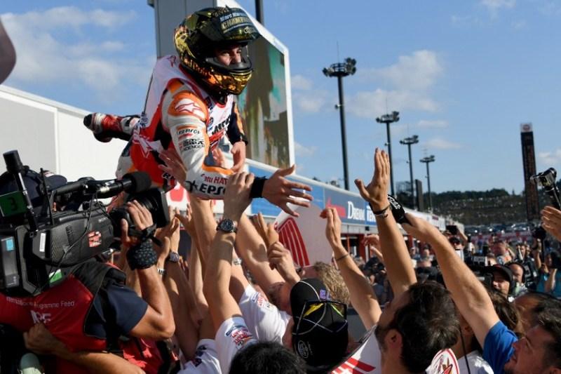 Raih Gelar Juara Dunia di Motegi, Marc Marquez Merasa Aneh