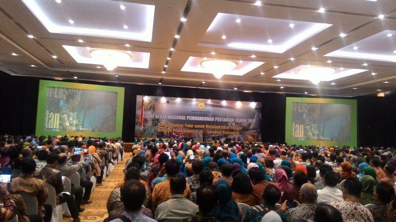 Buka Rakernas Pertanian 2017 Jokowi Tugasi 3 Menteri Bangun 30 Ribu