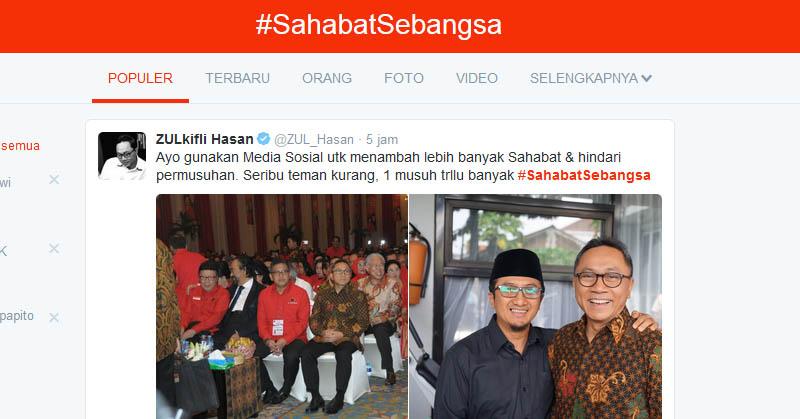 Netizen Serukan #SahabatSebangsa di Medsos