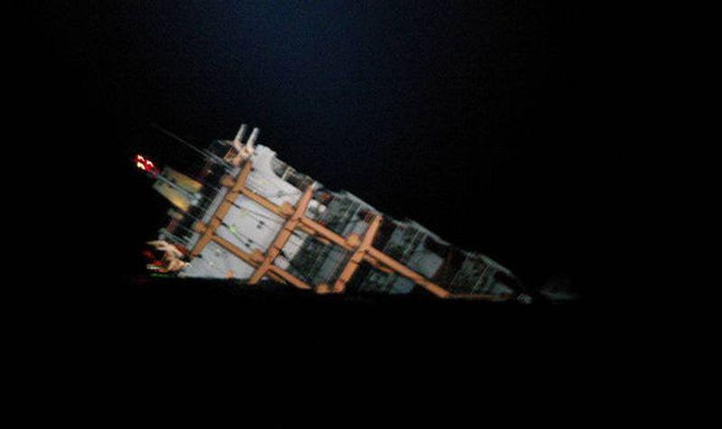 Kapal kargo Chong Gen yang karam (Foto: Istimewa)