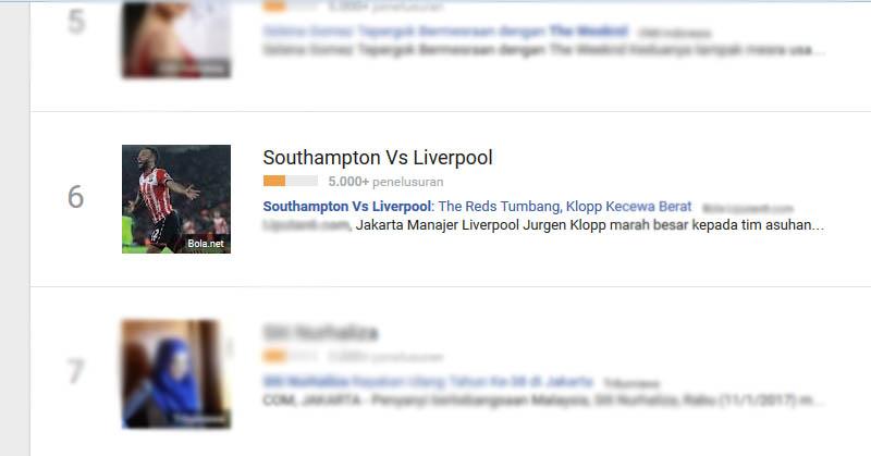 Tumbang oleh Southampton, Liverpool Banyak Dicari Netizen
