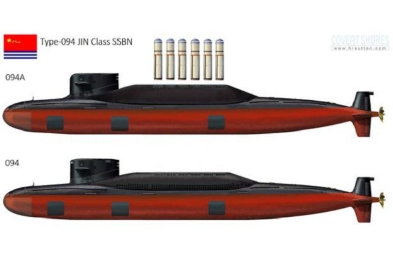 Kapal selam nuklir (SBBN) Tipe-094A Jin Class mampu membawa 12 rudal nuklir. (Foto: Popular Science)