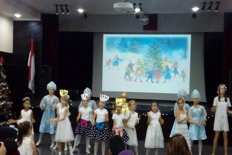 Pusat kebudayaan Rusia di Jakarta gelar perayaan Natal untuk anak-anak. (Foto: Victor Maulana/Sindonews)