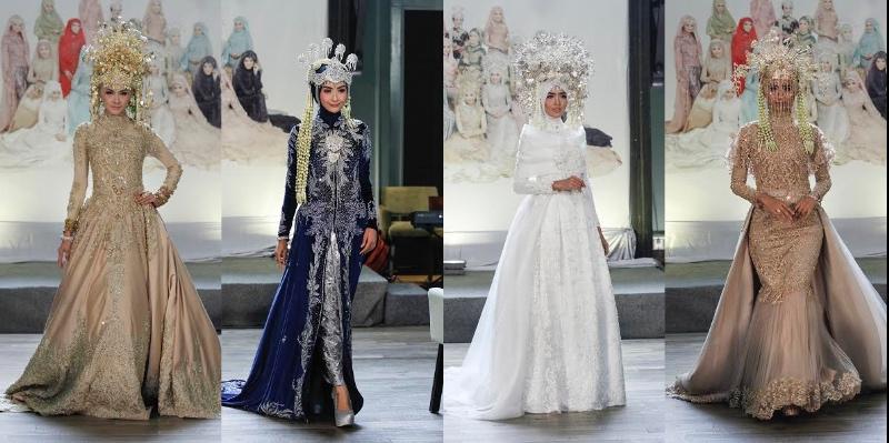Top Fashion 3 Tren Busana Pengantin Muslimah 2017 Adalah Hijab