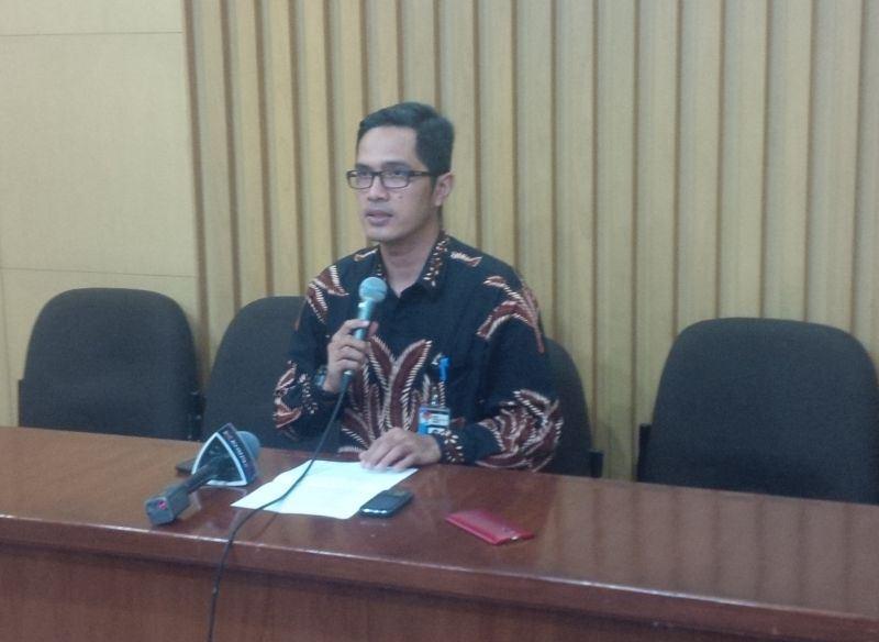 Jubir KPK Febri Diansya (Foto: Arie Dwi Satrio/Okezone)