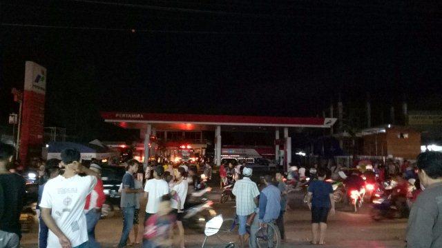 Lokasi Truk Tangki Terbakar (Foto: TMC Polda Metro)