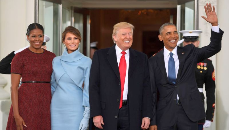 Pelantikan Donald Trump. (Foto: AFP)