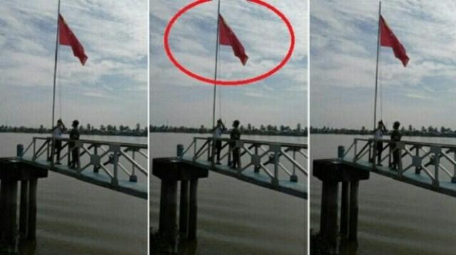 Bendera China Ditemukan Berkibar di Banyuasin