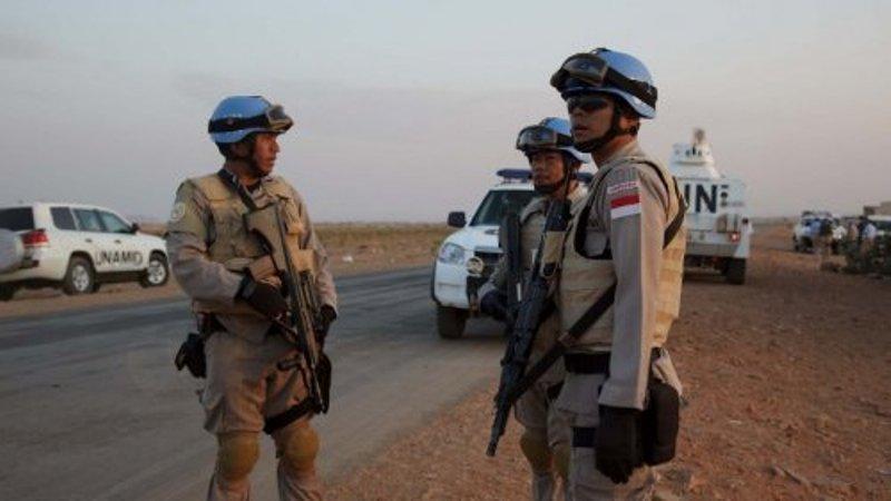 Pasukan perdamaian Indonesia di Sudan (Foto: Sudan Tribune)