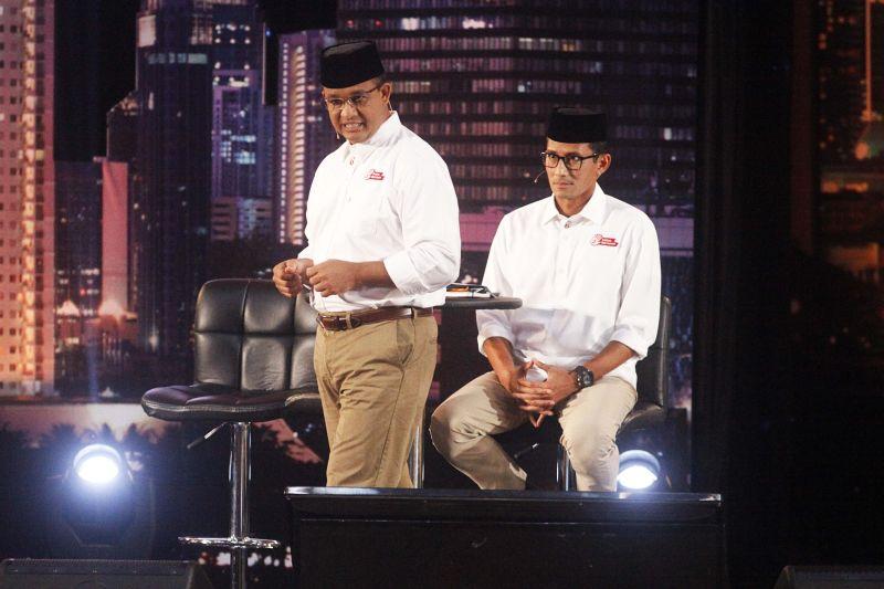 Pasangan Pilgub DKI Jakarta, Anies Baswedan-Sandiaga Uno (Foto: Heru Haryono/Okezone)