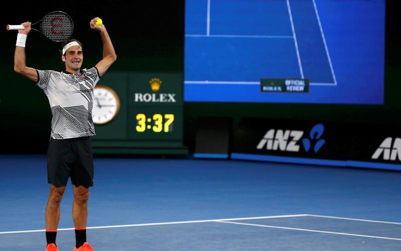 Federer Girang Bisa Kalahkan Nadal di Australia Open 2017