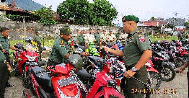 Motor anggotya TNI yang ditahan (foto: Narjo/Okezone)