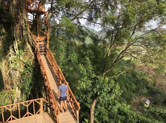 Main Ke Rumah Pohon Di Curug Ciherang Bogor Yuk Okezone Lifestyle