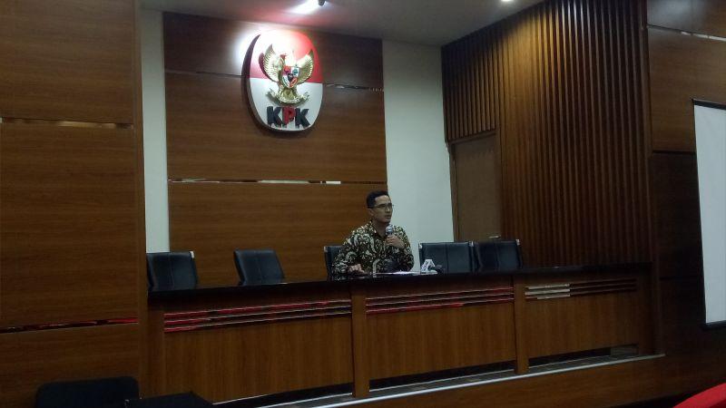 Jubir KPK Febri Diansyah (Foto: Putera Negara/Okezone)