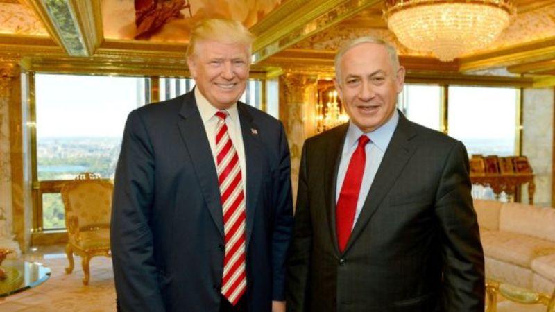 PM Israel Benjamin Netanyahu di kediaman Presiden AS Donald Trump. (Foto: Reuters)
