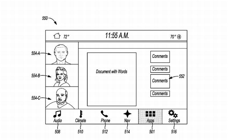 Gambar paten fitur rapat dari mobil yang diajukan Ford Motor (US Publication Application)