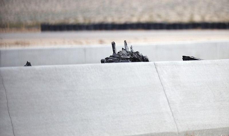 Bagian mobil Lamborghini bekas kecelakaan di SpeedVegas (Review Journal)