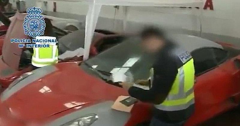 Kepolisian Spanyol ungkap kasus pemalsuan mobil Ferrari dan Lamborghini (Policia National)
