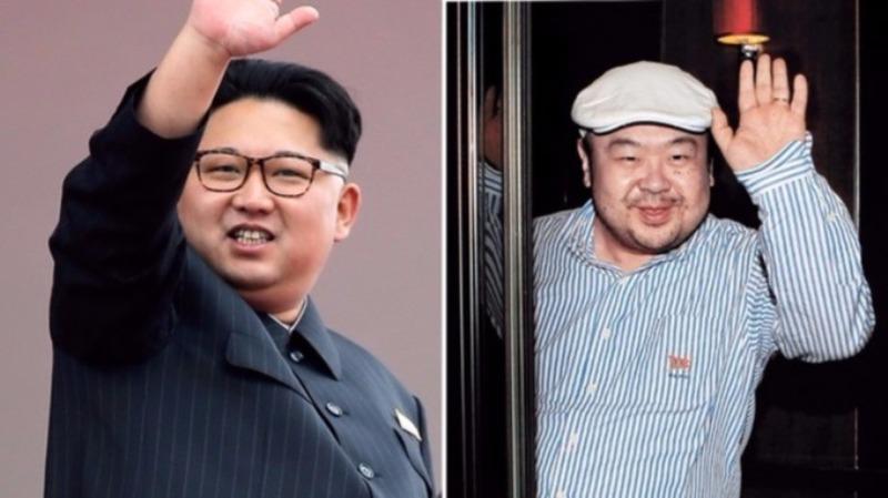 Pemimpin Tertinggi Korut Kim Jong-un dan kakak tirinya Kim Jong-nam (Foto: Associated Press)