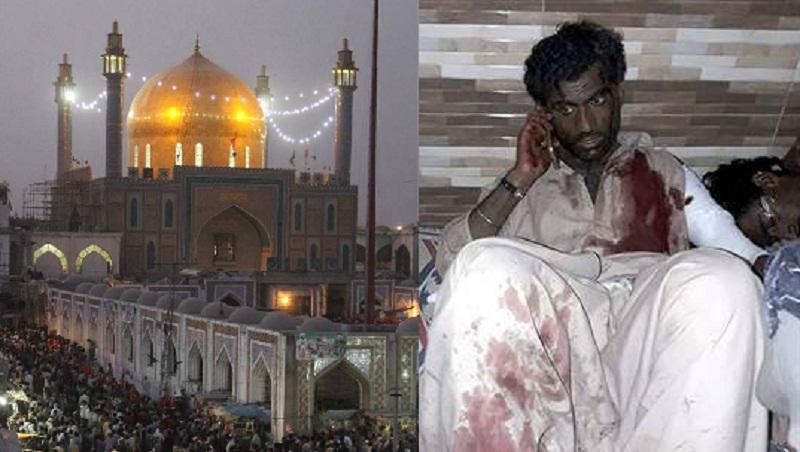 Korban ledakan di makam suci sufi Islam di Pakistan. (Foto: AFP/Getty)