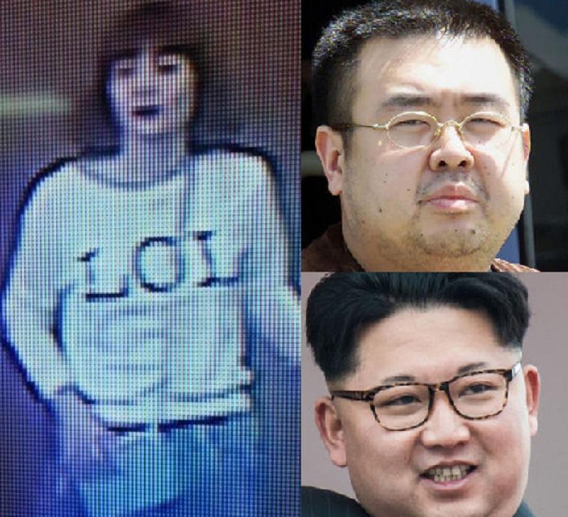 Siti Aishah, Kim Jong-nam dan Kim Jong-un. (Foto: AP/CCTV/Gazette)