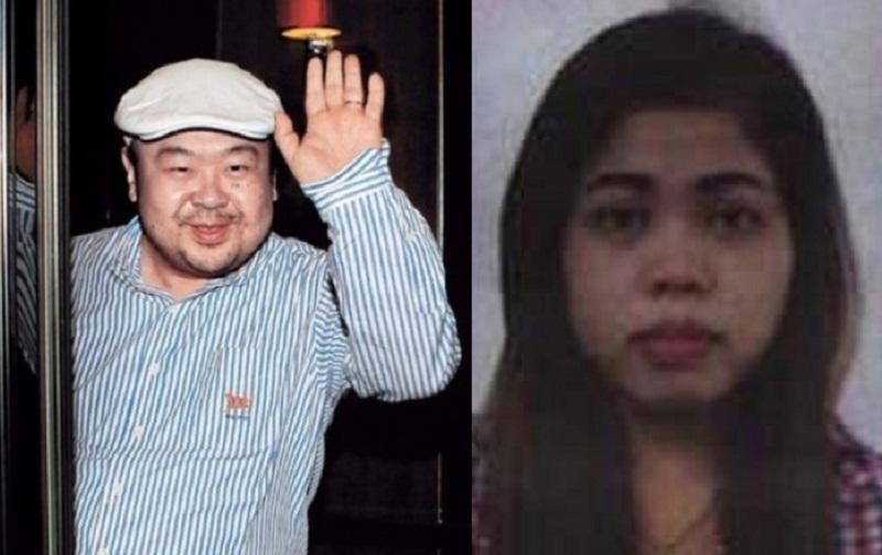 Kim Jong-nam dan Siti Aisyah. (Foto: Getty/Amhra)