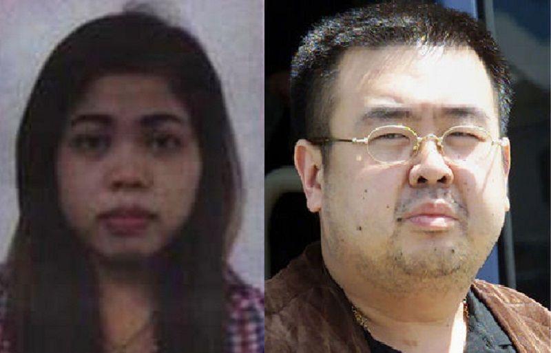 Siti Aisyah, WNI yang diduga terlibat dalam pembunuhan Kim Jong-nam (kanan). (Foto: Ahram/AP)
