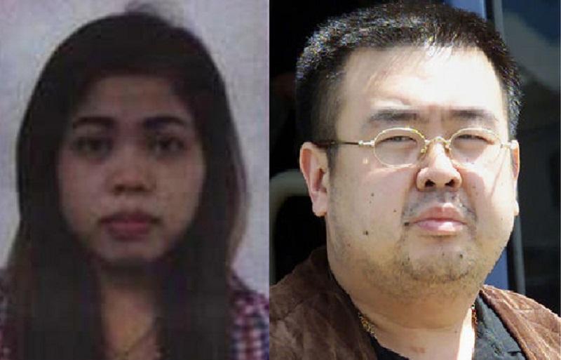 Kim Jong-nam dan Siti Aisyah. (Foto: AP)