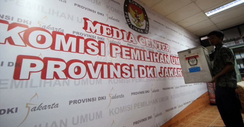Media Center KPUD DKI. (Foto: Arif Julianto/Okezone)