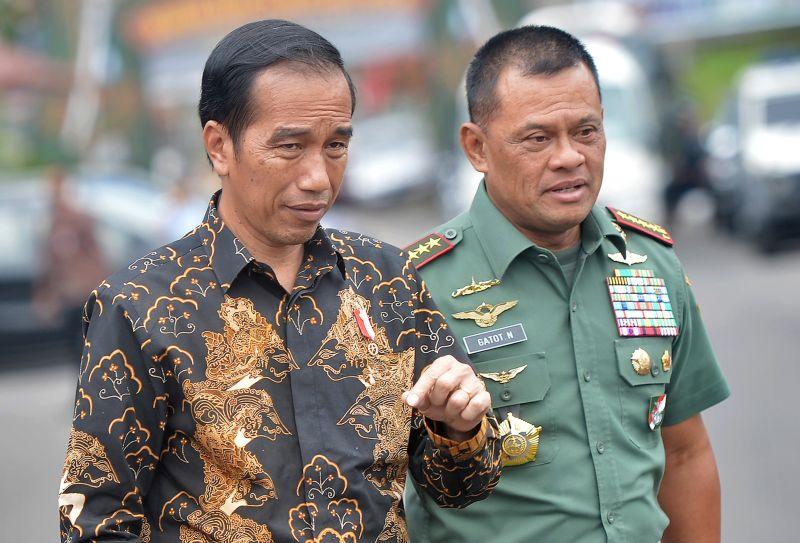Presiden Joko Widodo dan Panglima TNI Jenderal Gatot Nurmantyo (Antara)