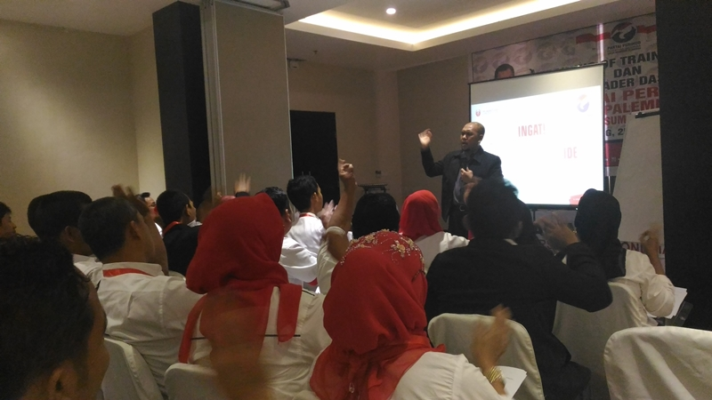 ToT Perindo di Palembang, Kader Dibekali Pelatihan Public Speaking