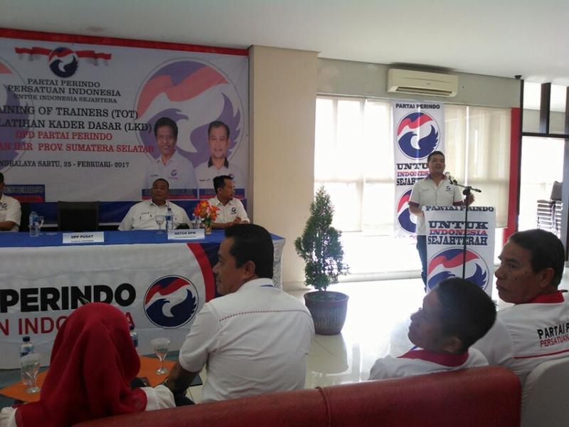 Program ToT dan LKD Sangat Penting untuk Pembekalan Kader Perindo