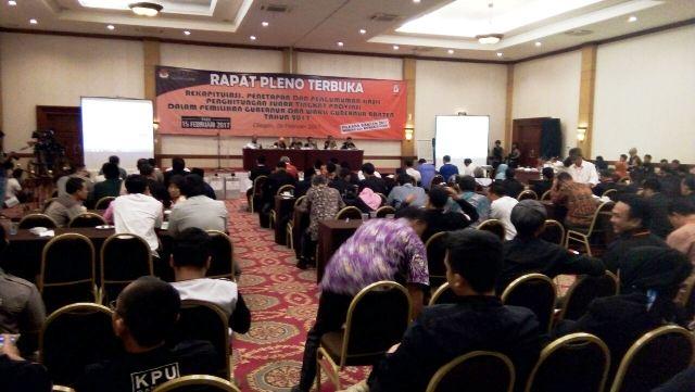KPU Akan Tetapkan Peraih Suara Terbanyak Pilgub Banten 2017