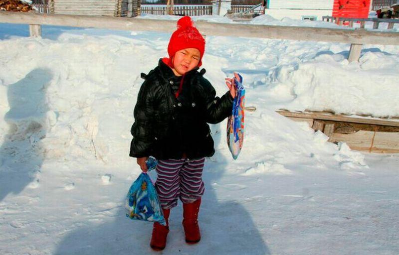 Gadis kecil pemberani asal Siberia. (Foto: Saglana)