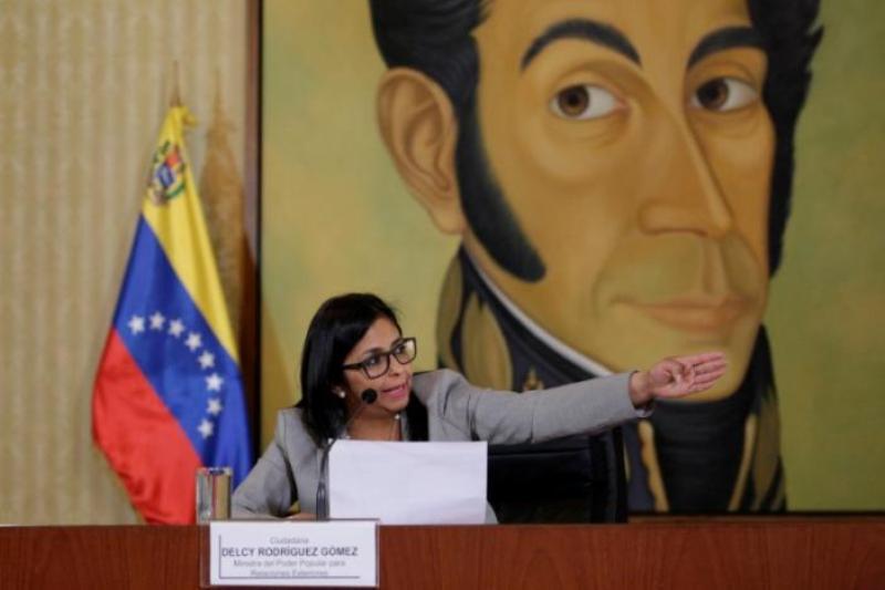 Menlu Venezuela Delcy Rodriguez. (Foto: Reuters)