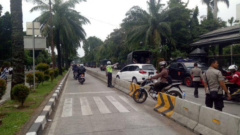 Sidang Ahok Usai, Jalan RM. Harsono kembali dibuka (Foto: Putera Negara/Okezone)
