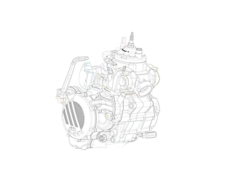 Mesin 2 tak KTM (foto: Indianautosblog)