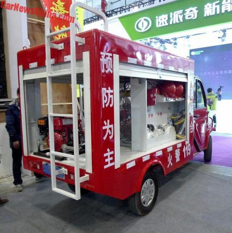 Mobil listrik pemadam kebakaran China (foto: Carnewschina)