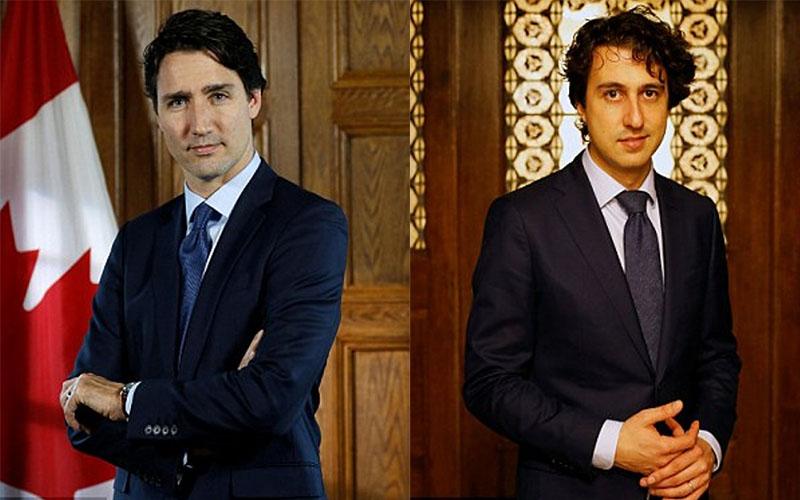 PM Kanada, Justin Trudeau (ki) dan Politikus Belanda Jesse Klaver (ka). (Foto: Ist)