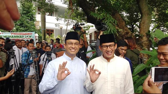 Paslon Gubernur dan Wakil Gubernur DKI, Anies-Sandi (foto: Okezone)